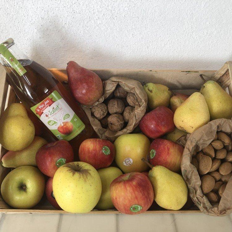 panier fruits saison locaux et régionaux